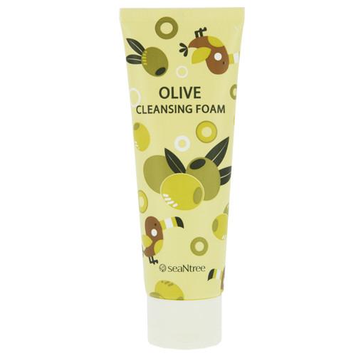 Увлажняющая пена для умывания с оливой SeaNTree Olive 100 Cleansing Foam