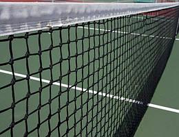 Сетка для большого тенниса хорошего качества с тросом стандартная