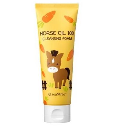 Очищаюча пінка для вмивання SeaNTree Horse Oil 100 Cleansing Foam 120 мл