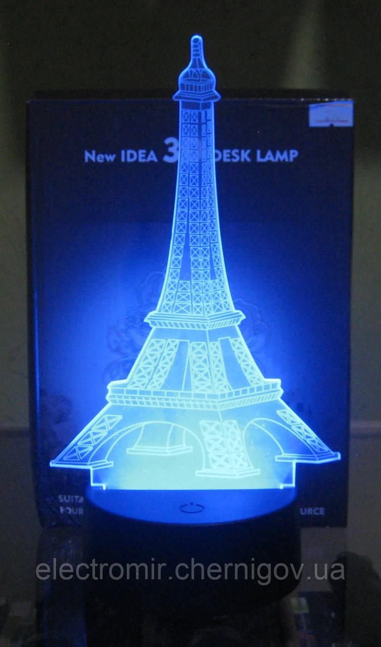 Оригинальный 3D светильник (Эйфелева башня)