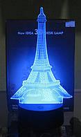 Оригинальный 3D светильник (Эйфелева башня), фото 1