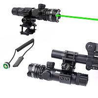 Лазерный целеуказатель ЛЦУ точечный лазерный прицел зеленый луч, фото 1