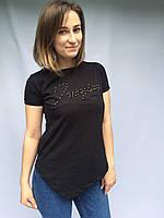 Женская футболка Турция черная,белая