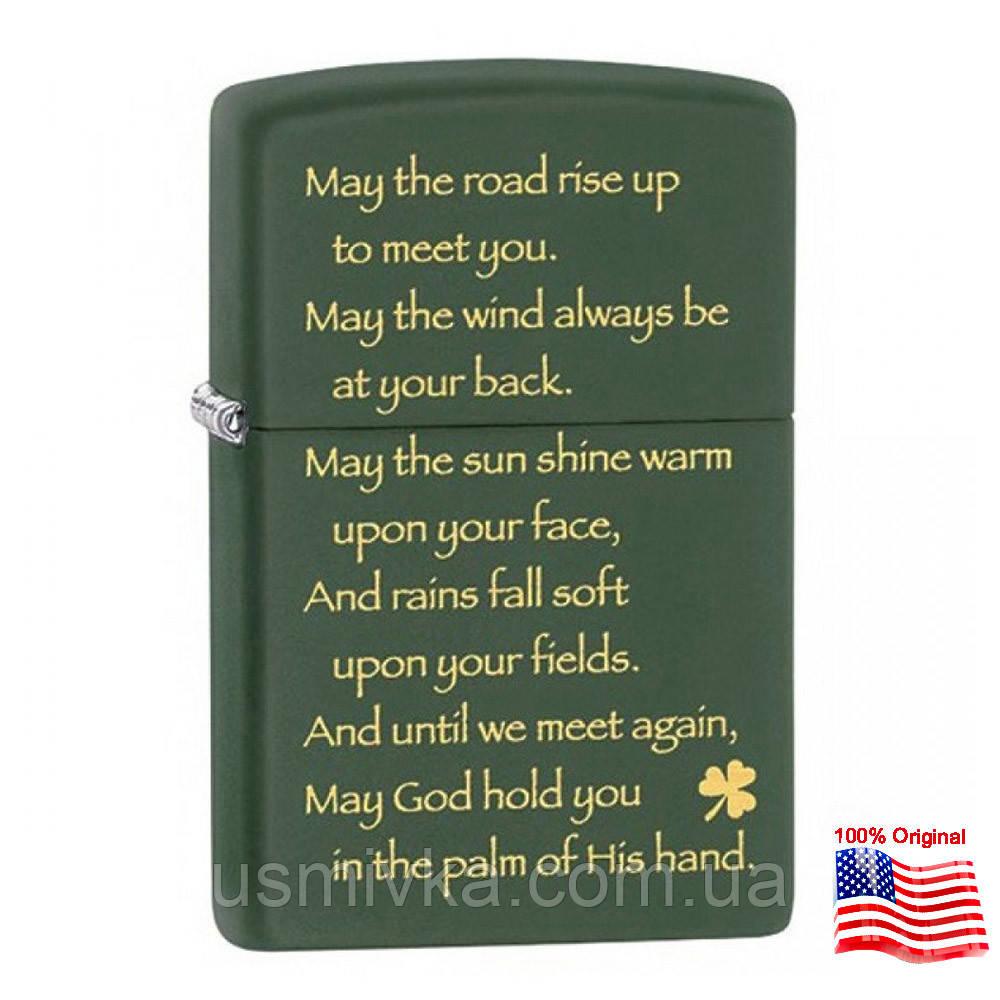 Зажигалка Zippo 28479 IRISH BLESSING зеленая 28479