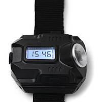 Цифровые наручные часы с фонариком