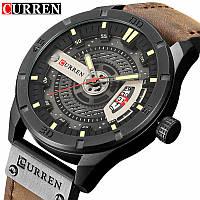 Часы CURREN 8301 Black Brown 47mm (Quartz)., фото 1