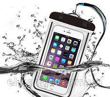 Водонепроницаемый чехол для телефона черный