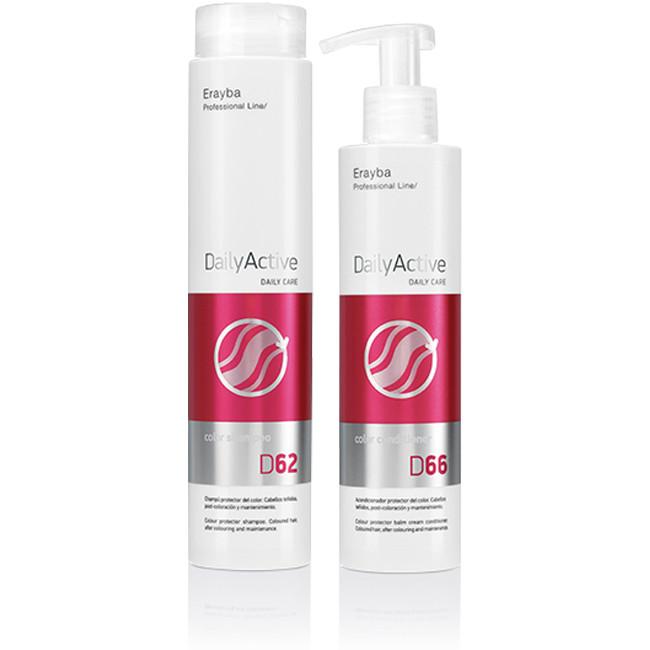 Набор для ухода за окрашенными волосами шампунь + кондиционер Erayba D62/D66 Color Factor 250/200 мл