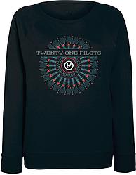 Женский свитшот Twenty One Pilots - Logo (чёрный)