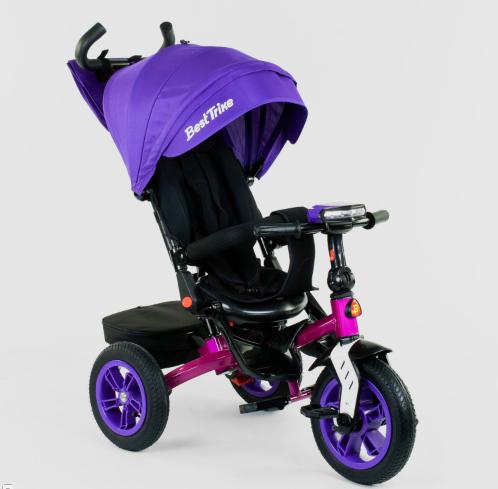 Детский 3-х колёсный велосипед Best Trike 9500 - 3046 поворотное сиденье, складной руль, надувные колеса