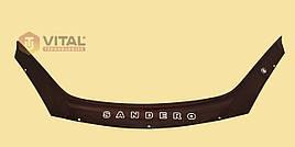 Мухобойка, дефлектор капота Dacia Sandero 2008–2012 (Vip tuning)