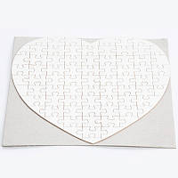 Пазл сердце на магните сублимационный 190х190 мм