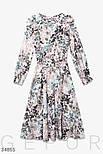 Расклешенное летнее платье-миди из легкой шелковой ткани, фото 5