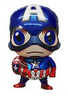 """Шар фольгированный фигурный """"Мстители Капитан Америка""""  Размер:78см*46см."""