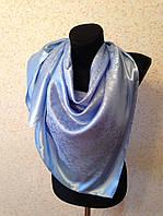 Голубой атласный платок №65 (цв 16)