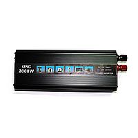 Инвертор 12/220 2000Вт Преобразователь Напряжения AC/DC UKC 2000W