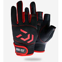 Перчатки для рыбалки Daiwa (черные с красным)