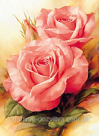 """Набор алмазной вышивки (мозаики) """"Прекрасные розы"""""""