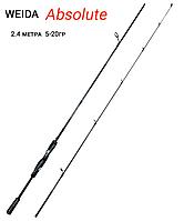 Спиннинг карбоновый Weida (Kaida) Absolute 2.4 м тест 5-20 гр