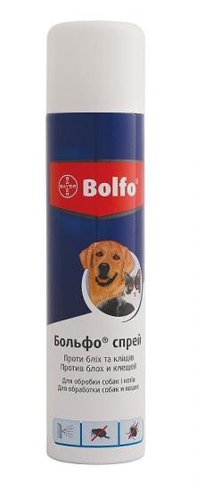 Спрей от блох и клещей Больфо Bolfo Bayer для собак и кошек 250 мл