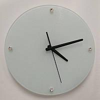 Часы стеклянные D29 для сублимации настенные круглые