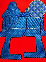 Ковры экокожа на VOLVO FH 2013- АКП синие в кабину.