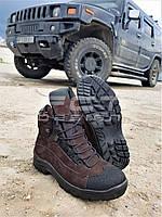 Ботинки  Командос Зимние нубук  шоколад