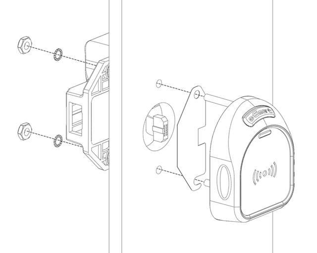 замок онлайн для шкафчика PT400TWR