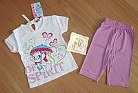 Летняя футболка и шорты , рост 80 см, для девочек