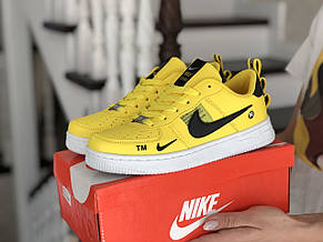 Подростковые (женские) кроссовки Nike Air Force,желтые, фото 3