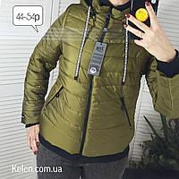 Женская куртка-жилетка,цвет хаки