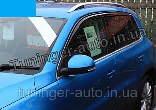 Ветровики, дефлекторы окон Volkswagen Tiguan 2007-2016 (Autoclover)