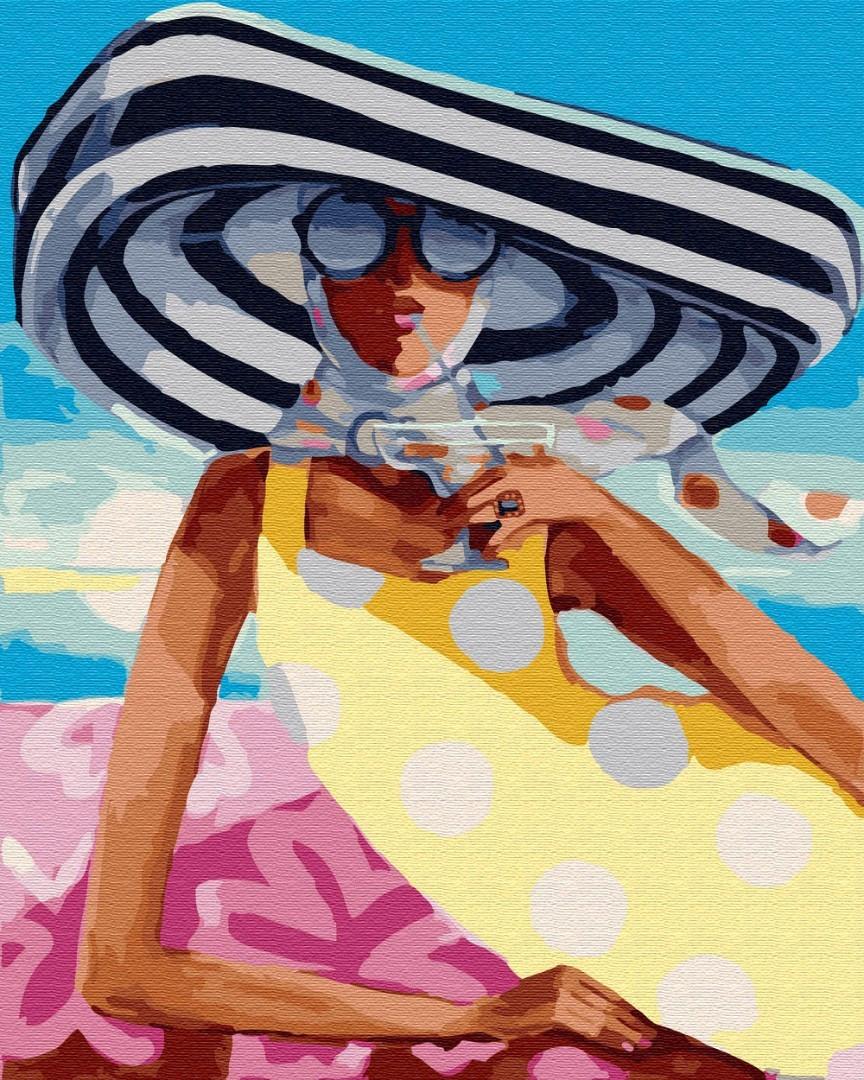 """Картина по номерам. Brushme """"Коктейль на пляже"""" (Бесплатная доставка Justin)"""