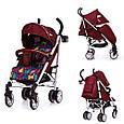 Прогулочная коляска-трость Carrello Allegro (красный цвет), фото 3