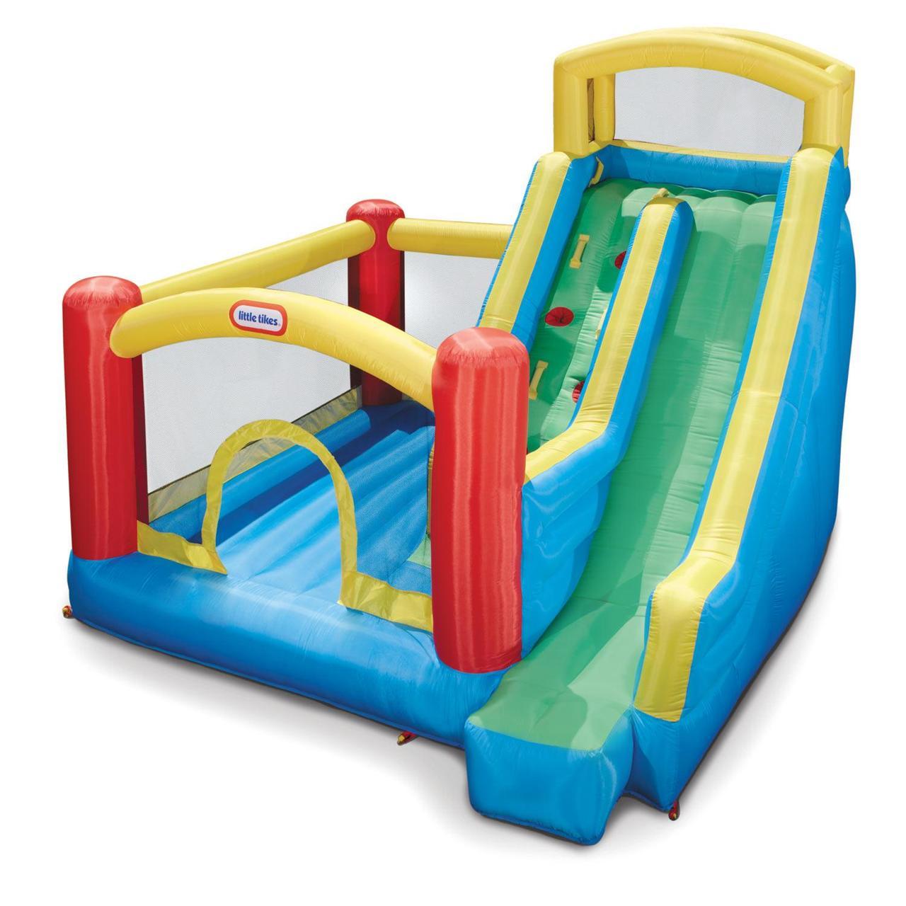 Надувной игровой центр с горкой Little Tikes 1734000000 Giant Slide Bouncer