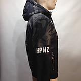 Куртка молодежная на тонком синтепоне серая с черным / демисезонная курточка, фото 2