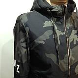 Куртка молодежная на тонком синтепоне серая с черным / демисезонная курточка, фото 3