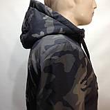 Куртка молодежная на тонком синтепоне серая с черным / демисезонная курточка, фото 4