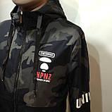 Куртка молодежная на тонком синтепоне серая с черным / демисезонная курточка, фото 5