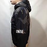Куртка молодежная на тонком синтепоне серая с черным / демисезонная курточка, фото 6