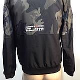 Куртка молодежная на тонком синтепоне серая с черным / демисезонная курточка, фото 10
