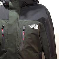 Ветровка куртка мужская легкая в стиле The North Face / олива с черным демисезонная куртка