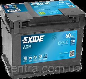 Автомобильный аккумуляторExide 60Ah Start-Stop AGM EK600