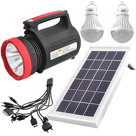 Фонарь кемпинговый переносной 5W+22SMD Luxury 1902T с солнечной батареей и функцией power bank 2 лампы 3W