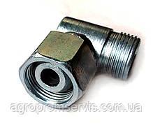 Штуцер угловой с гайкой S36 для гидравлики (М30х1.5-М30х1.5)
