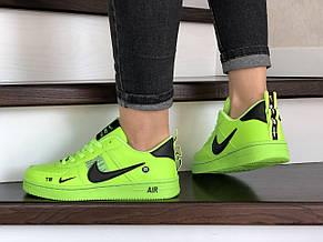 Подростковые (женские) кроссовки Nike Air Force,салатовые, фото 3