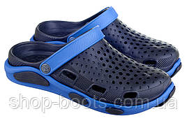 Мужские сабо-кроксы оптом Гипанис. 41-45рр. Модель Гипанис CM 120 PRO Синие-электро