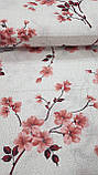 Постельное белье бязь Цветение красный, фото 2