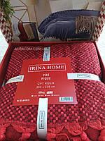Простынь - покрывало размер пике,бордовый цвет, Irina Home, Турция