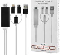 Медиаплеер 3 в 1 для Android - IOS->HDMI USB Wire miracast, фото 1